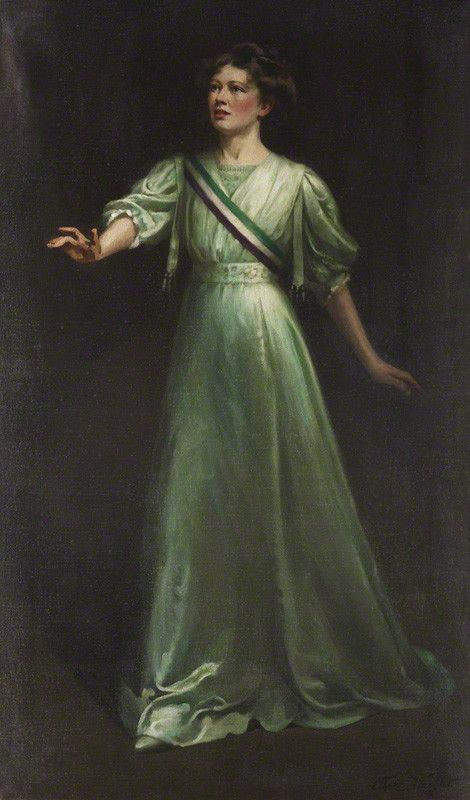 Dame Christabel Pankhurst By Ethel Wright Oil on canvas, exhibited 1909