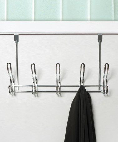 Loving this Chrome Five-Hook Over-the-Door Hanger on #zulily! #zulilyfinds