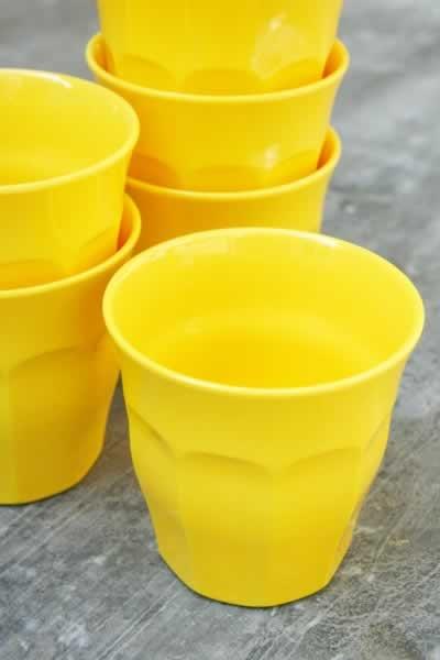 Yellow Picardie glasses