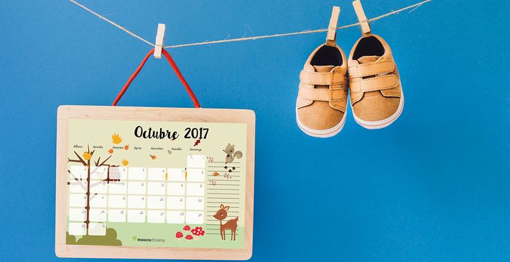 Ya me habéis escrito preguntando por el #calendario #octubre 2017, pues aquí os lo traigo para que podáis #descargar e #imprimir.