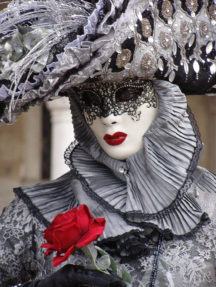 Red Rose. Venice Carnival 2015 by Lesley McGibbon