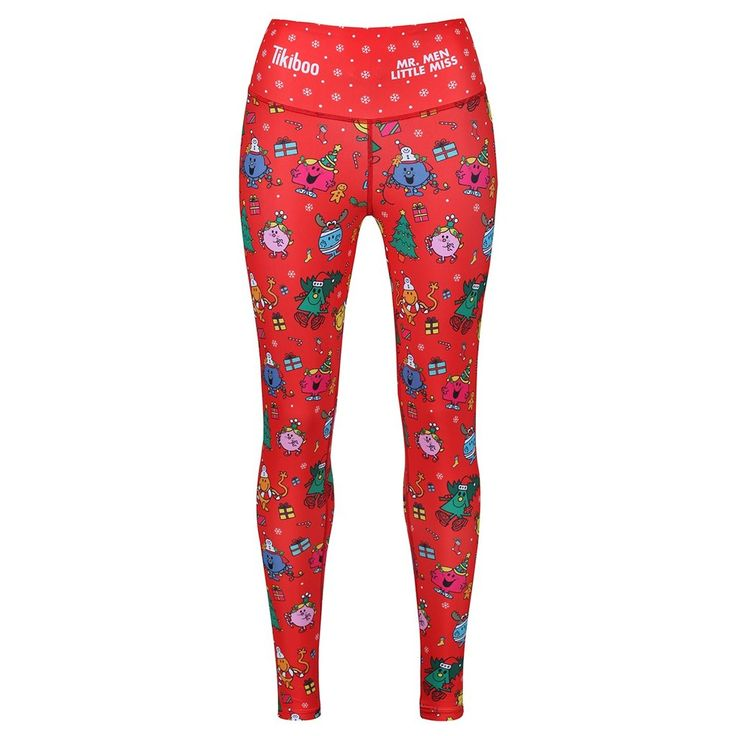 Festive Mr. Men Little Miss leggings, for all those Christmas workouts! #christmas #workout #activewear #festivewear #christmasleggings