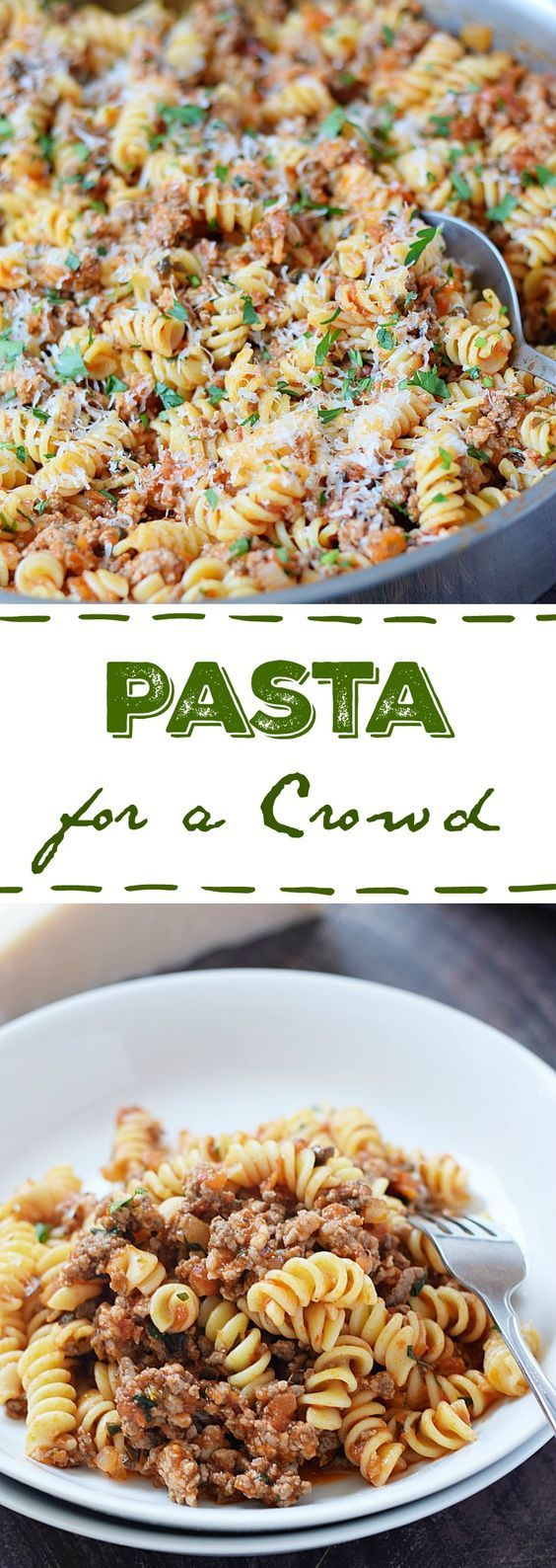 Do you have a big family, or teenage boys to feed This Pasta for a Crowd is a hearty meal that goes a long way   cookingwithcurls.com