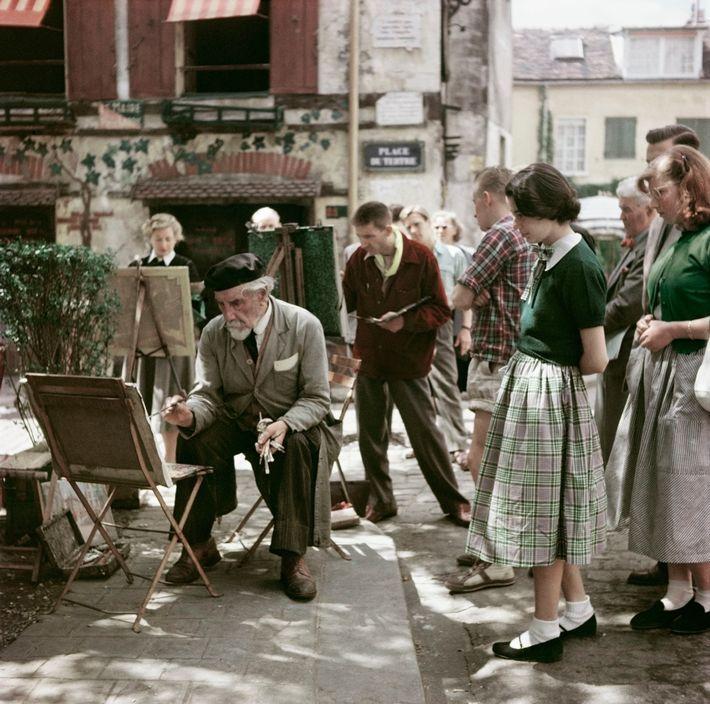 blacksmith-a-angel:  Montmartre Painter Paris 1952 Robert Capa