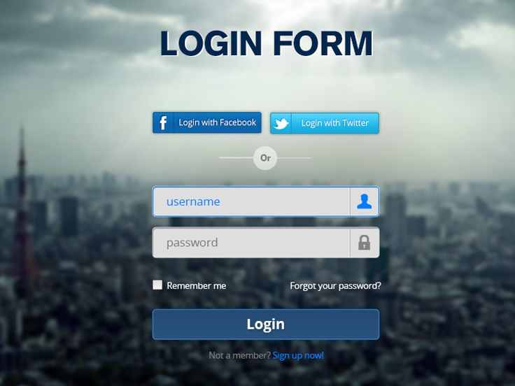 Login Form - PSD