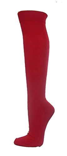 Couver Unisex Knee High Sports Athletic Baseball Softball Socks, DARK RED, Small Made by #COUVER Color #Dark Red. Cotton 80 %, Nylon 12%, Rubber 8%. Sizing Guidelines: Adult Small : Men's Shoe Size 6Y - 6.5, Women's Shoe Size 6.5 - 8 / Adult M: Men's Shoe Size 7 - 10, Women's Shoe Size 8.5 - 12 / Adult L: Men's Shoe Size 10 - 13, Women's Shoe Size 12.5 - 14. Length: Knee High. Soft comfortable solid color sports socks. Made in Taiwan