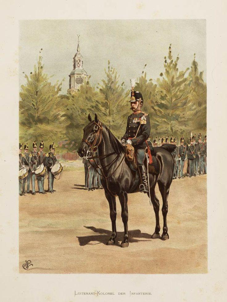 Luitenant-Kolonel der Infanterie. 1896