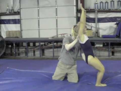 Back Handspring Drills-hollow and arch and HS holds, blocking, shape change, putting it together