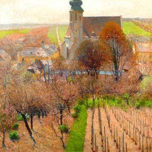 """Carl Moll, """"Partie aus Grinzing"""": ein bislang unbekanntes und in seiner Qualität eindrucksvolle Gemälde."""