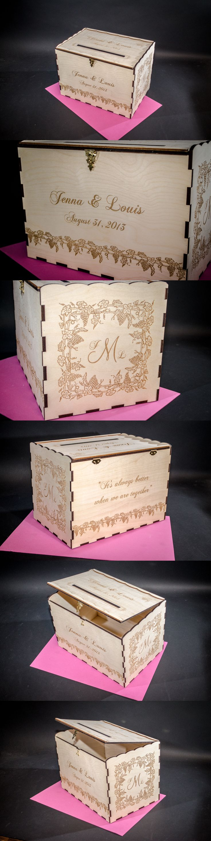 49 best wedding card boxes images on pinterest