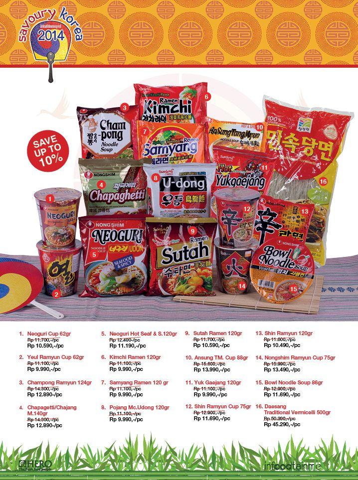 Ingin membuat Mie dengan cita rasa khas Korea? Ayo Fresh People belanja di Hero Supermarket sekarang juga.