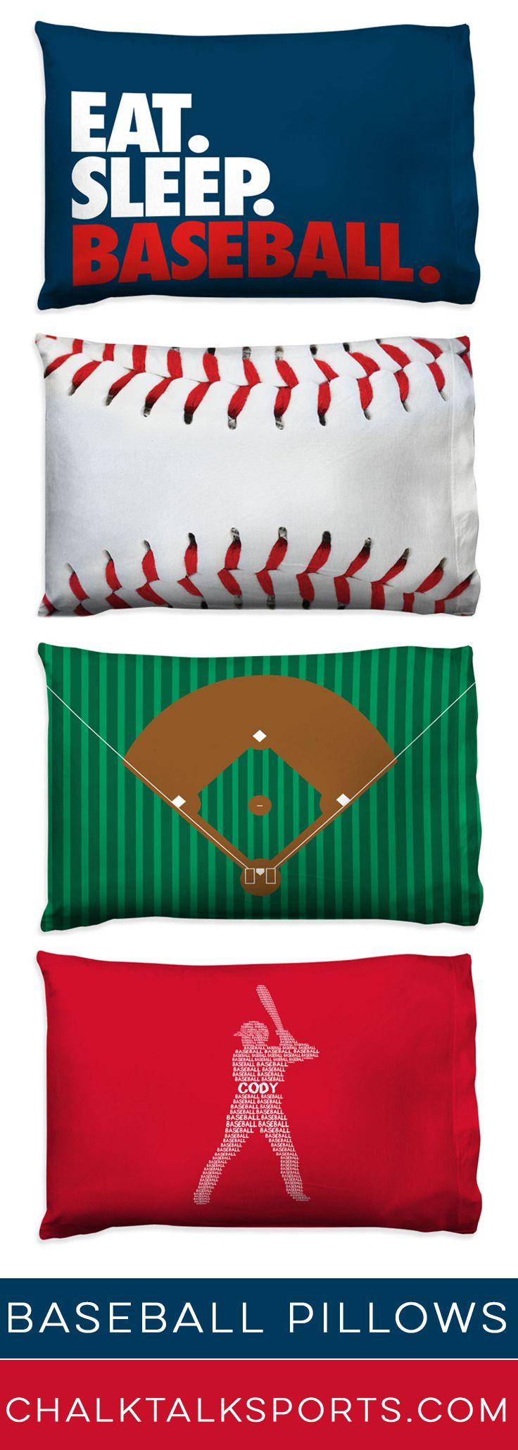 Fun baseball pillowcases for your baseball players room!