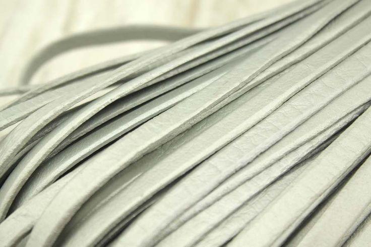 Silver Leather Cord,5 Yard by DIYArtMall on Etsy