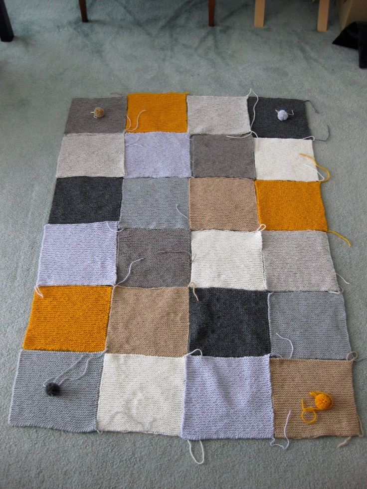 Free Knitting Pattern For Blanket Squares : 115 best images about Knitted squares blanket on Pinterest Knitting, Free p...
