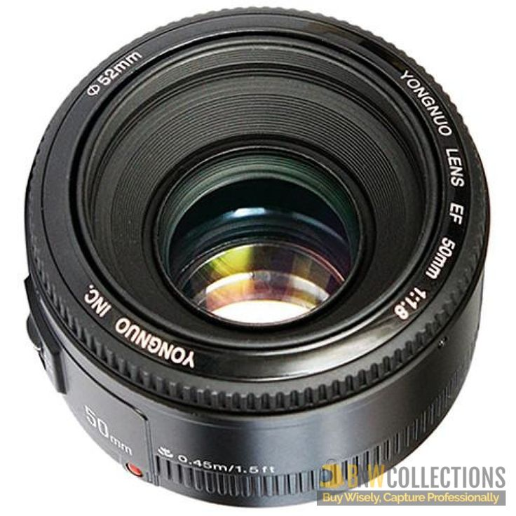 Buy Yongnuo YN 50mm f/1.8 Lens for Nikon At Rs.9,500 Features :- Aperture Range: f/1.8 to f/22, AF/MF Switch Cash on Delivery Hassle FREE To Returns Contact # (+92) 03-111-111-269 (BnW) #BnWCollections #Yongnuo #Camera #Lens #Nikon #Discount