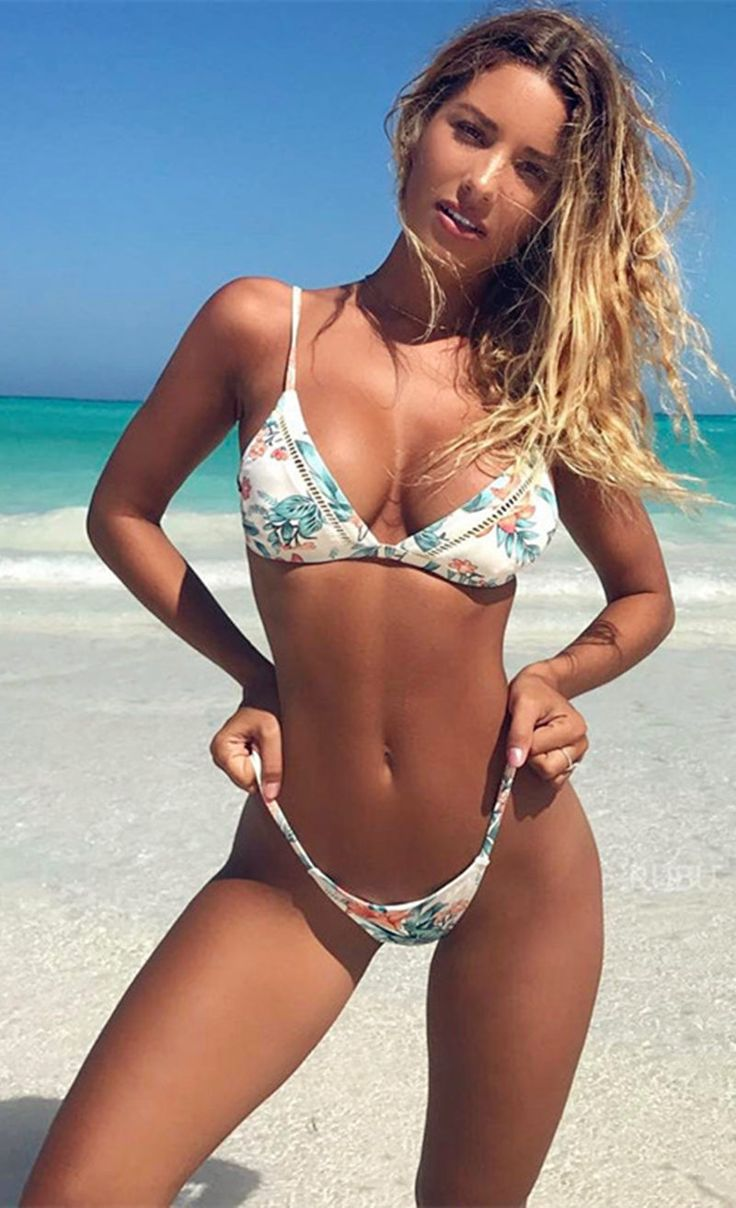 Floral Printing Sexy Bikini Set