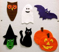 """""""Brown Owl, Brown Owl, What do you see?"""" Halloween Storytime Felt story"""