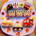【誕生日・幼児食プレート】電車&働く車♪ by 耕ちゃんママ
