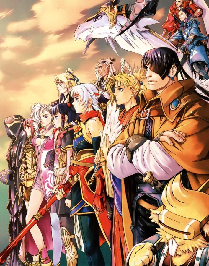 Suikoden V - Characters Illustration
