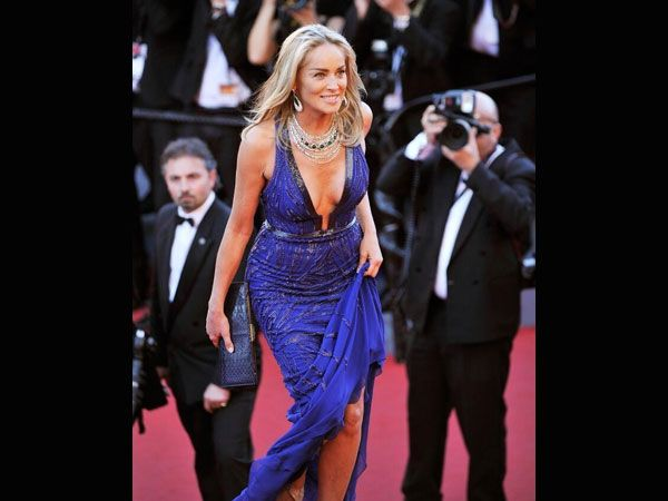 Sharon Stone's Style At Cannes