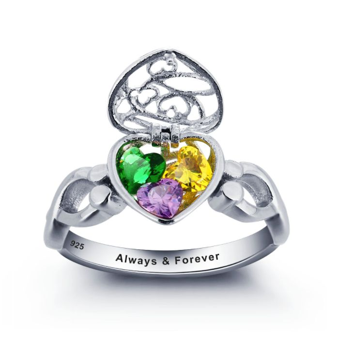 Discount Voucher Special!! >>> ENTER CODE: SUMMER AT CHECKOUT & SAVE FOR EACH AND EVERY ITEM IN OUR SPECIALS CATALOGUE! .... Specials items may be time limited so get yours quick! ....  Locket Of Hearts Infinity Band Ring! 925 Sterling Silver