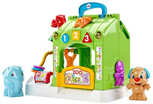 Take baby on a trip to the Laugh & Learn Smart Stages Activity Zoo for interactive learning fun! This zoo playset is loaded with busy activities for baby including rollers beads switches and slider...