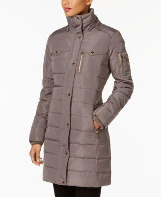 Michael Michael Kors Faux-Fur-Trim Down Puffer Coat - Black XXL