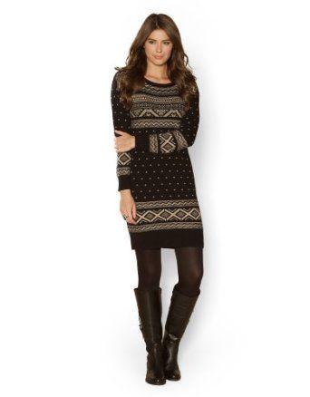Monsoon Womens Monica Fairisle Tunic Dress