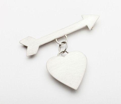 Large Heart and Arrow - Rex Royale - Wellington and New Zealand designer fashion clothing jewellery art women's cuba st boutique