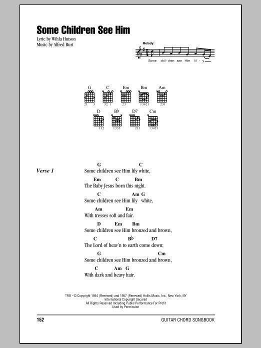 Some Children See Him Guitar ChordsLyrics by Wihla Hutson
