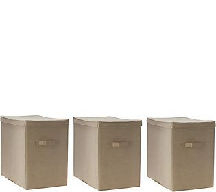 Pop-It Set of 3 Collapsible Storage Bins with Lids