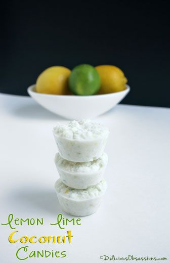Lemon Lime Coconut Candy Recipe | deliciousobsessions.com