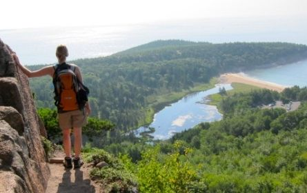 Beehive Trail Overlooking Sandy Beach picture in Acadia National Park