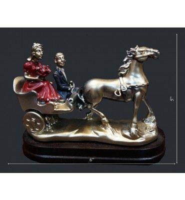 Couple On Taanga-1 Statue @ Rs 500/-  http://www.krafthub.com/couple-on-taanga-1.html