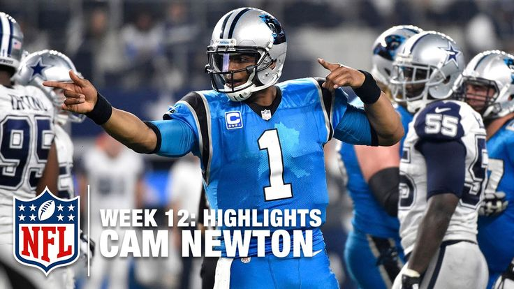 Cam Newton Highlights (Week 12) | Panthers vs. Cowboys | NFL