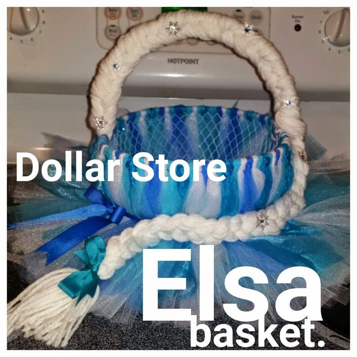 DYI Elsa with items from the dollar store Cold Wine and Hot Glue: Elsa basket made from Dollar store items!!!