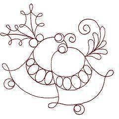free hand embroidery redwork patterns | designs cd christmas redwork 3 ebay redwork embroidery pattern redwork ...