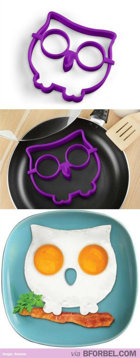 Owl-Shaped Egg Mold… Great For Pancakes Too! $10