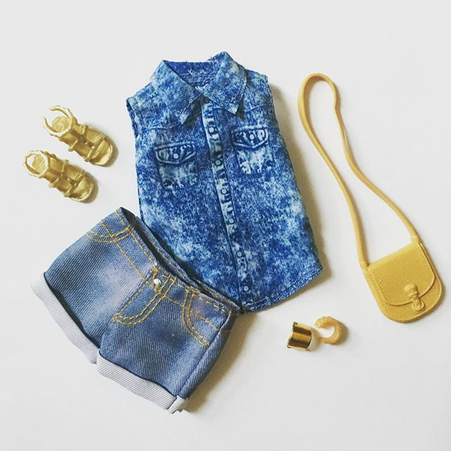 Denim x Denim - One of the new single Fashion Packs. #Barbie #BarbieStyle #Barbiecollector