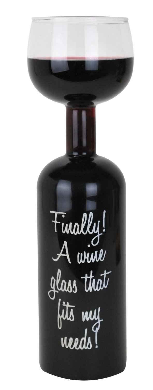Wine Bottle Glass, $14