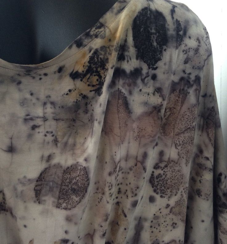 Eco dyed upcycled cotton tunic by Rita Summers