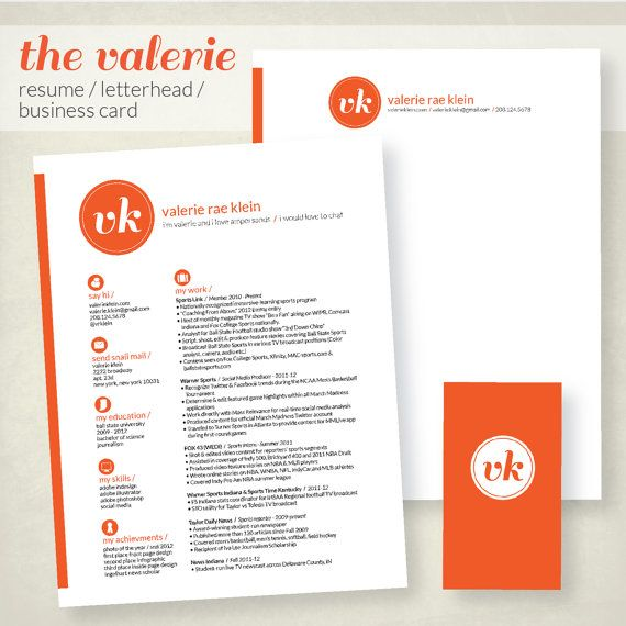 Resume business card and letterhead design by ChelseaRaeDesigns, $70.00