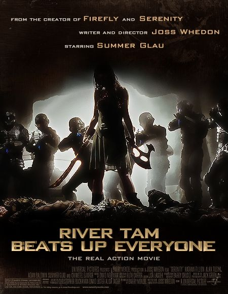 "Summer Glau stars in ""River Tam Beats Up Everyone""... I wish.  xkcd inspired this http://xkcd.com/311/"