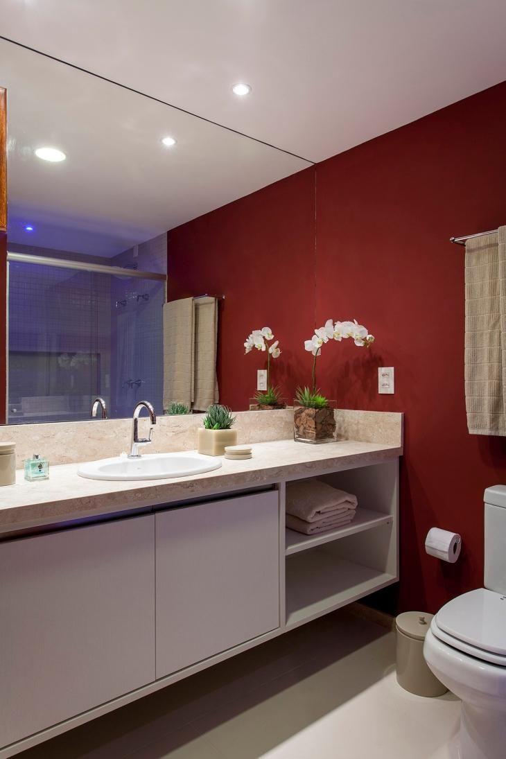 Banheiro Vermelho: 50 Fotos De Belos Projetos Com A Cor | Casa Nova |  Pinterest | Lindos Banheiros, Lavabos Decorados E Banheiro Vermelho