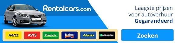 Om een auto te huren, check  www.Rentalcars.com