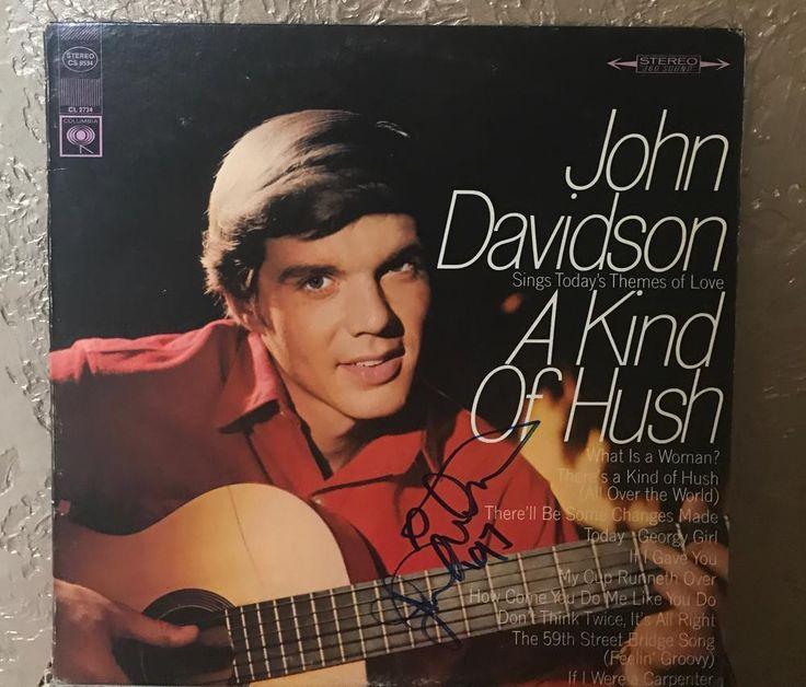John Davidson A Kind Of Hush 1997 Signed Vinyl Record For Sale #vinylrecord #vinyl #album #music