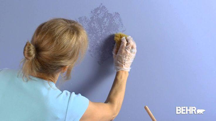 Pintura BEHR: Técnica de Poner con Esponja (Acabado Faux)