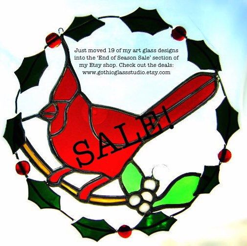 Check out my End of Season Sale! Great deals on quality art glass designs