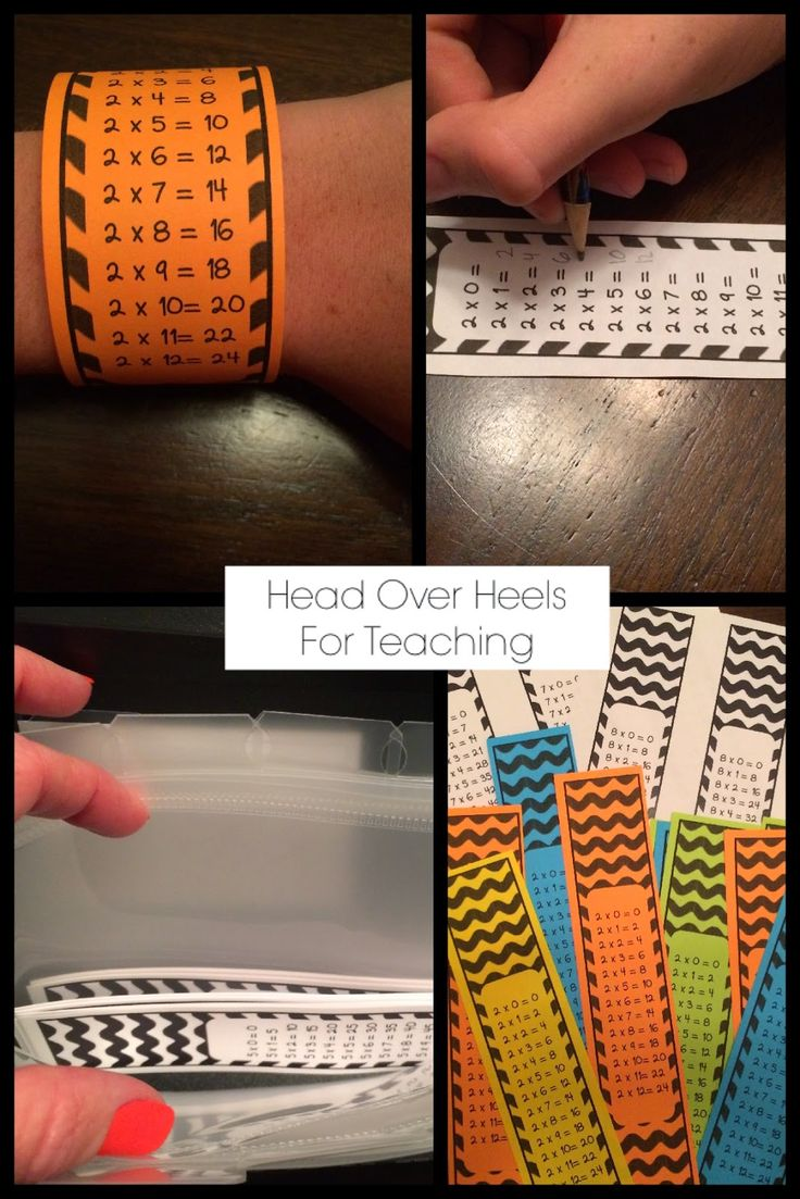 Multiplication bracelets times tables