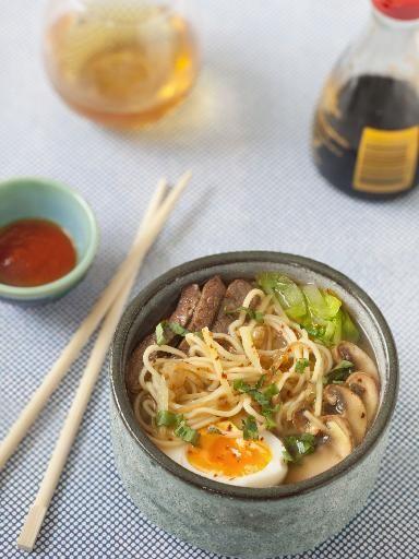 Ramens au Boeuf - Recette de cuisine Marmiton : une recette